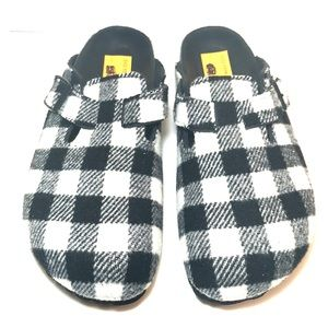 NEW Birkenstock Boston Black White Checkered Clogs